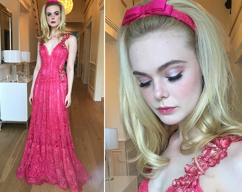 Elle fanning Elle Fanning in rosa per la prima di Teen Spirit