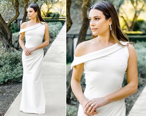 lea michele Lea Michele, ecco l'abito per la cena della prova