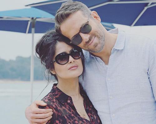 ryan salma Salma Hayek: Ryan Reynolds è altissimo