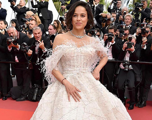 Michelle Rodriguez 2 Michelle Rodriguez in bianco a Cannes