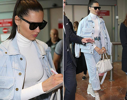 Adriana Lima arriva a Cannes