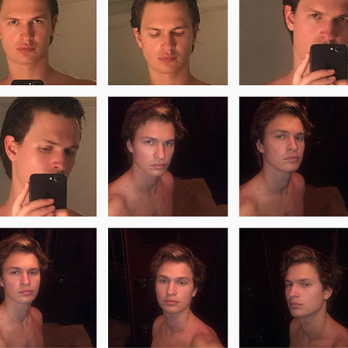 ansel elgort 2 Ansel Elgort, 17 selfie senza maglietta