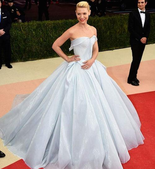 claire danes cinderella glowing dress gown met gala zac posen 8 Zendaya criticata da Lindsay Lohan