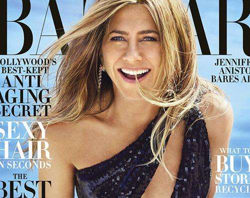 jenny Jennifer Aniston è hot su Harpers Bazaar