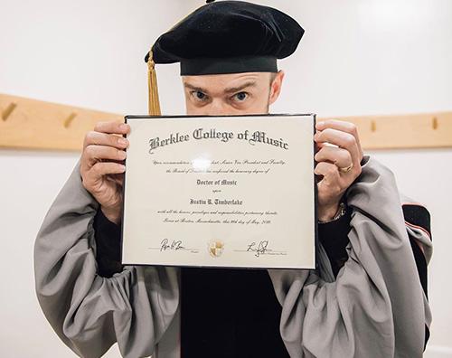 justin timberlake Justin Timberlake ha una laurea