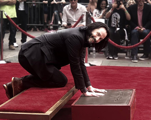 keanu reeves Keanu Reeves protagonista della Hand and Footprint Ceremony