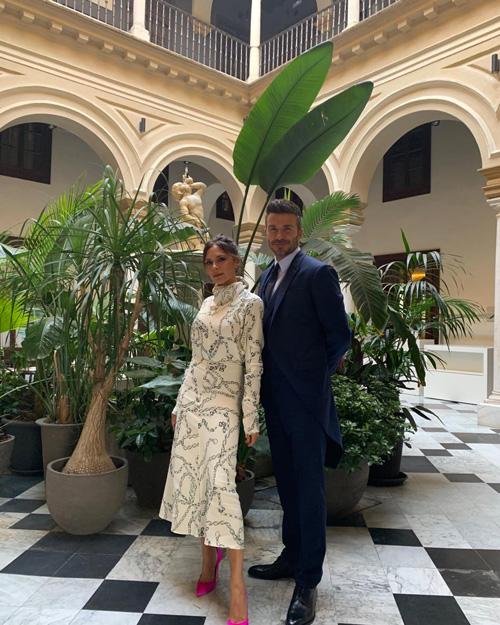 David e Vick  David e Victoria in tiro per il matrimonio di Sergio Ramos