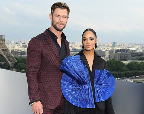 chris hemsworth tessa thompson Chris Hemsworth e Tessa Thomson a Parigi per Men In Black