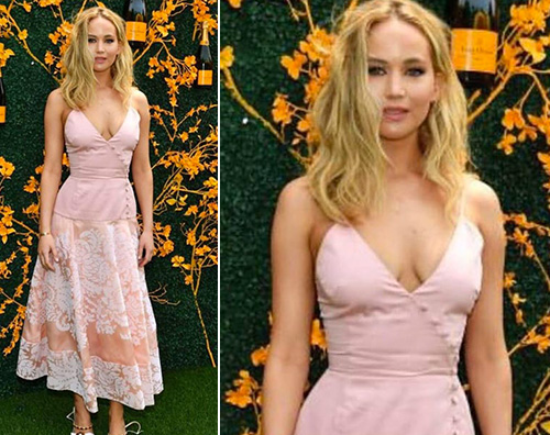 jennifer lawrence Jennifer Lawrence, evento mondano in pink