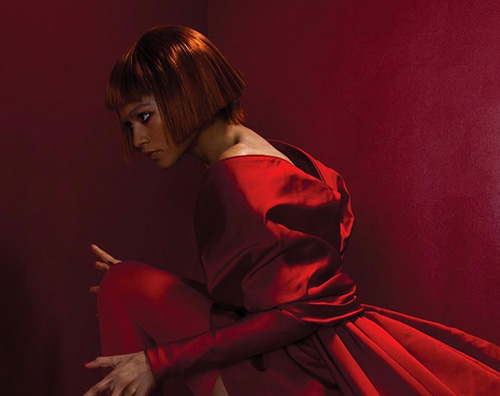 zendaya Zendaya in red sulla cover di Paper Magazine