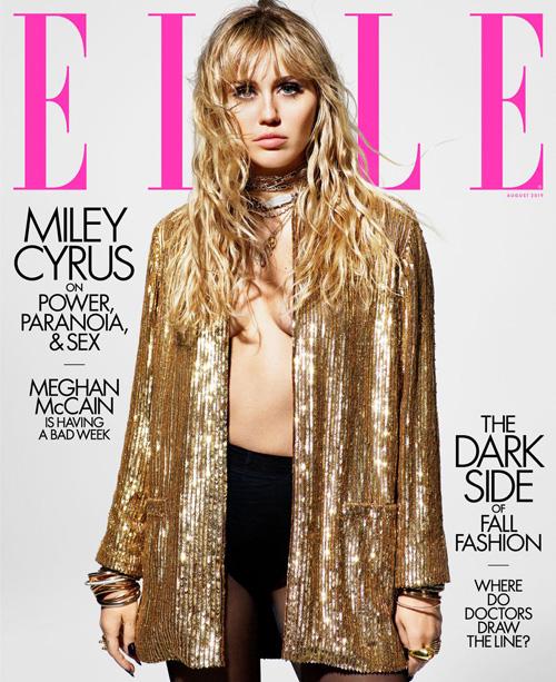 Miley 1 Miley Cyrus è sulla cover di Elle