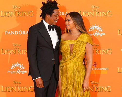 "Beyonce e Jay Z presentano ""The Lion King"" a Londra"