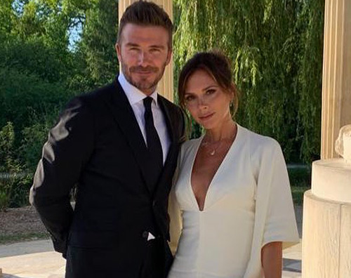 david beckham David e Victoria Beckham festeggiando 20 anni di matrimonio