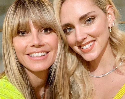 heidi klum chiara ferragni Heidi Klum, selfie con Chiara Ferragni