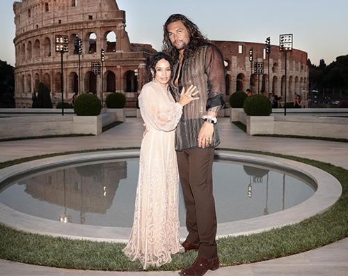 jadon momoa lisa bonet Jason Momoa e Lisa Bonet a Roma per Fendi