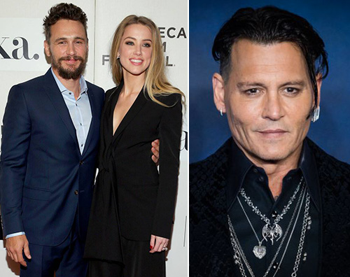 johnny depp amber heard james franco Johnny Depp e Amber Heard: spunta un video con James Franco