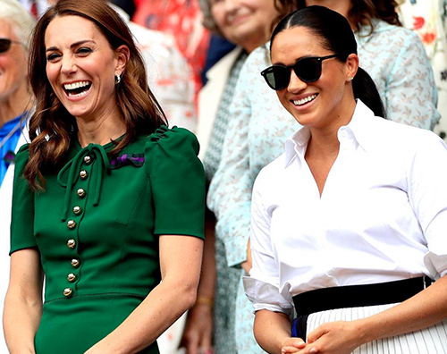 kate e meghan 2 Kate Middleton e Meghan Markle insieme a Wimbledon