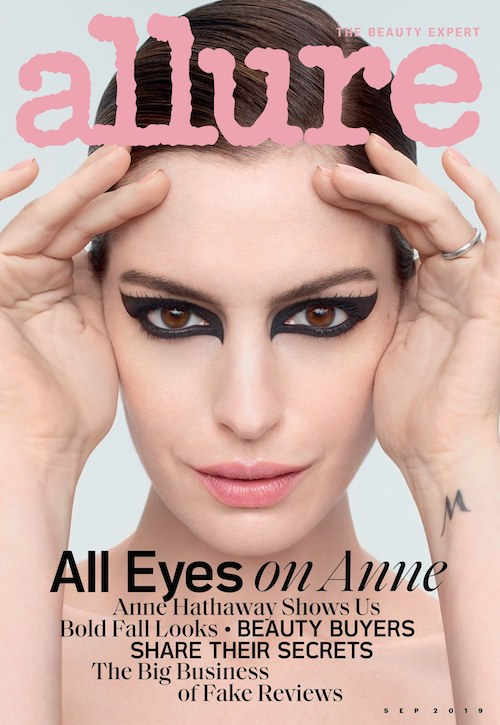0919 allure cover anne hathaway coverlines Anne Hathaway è sulla cover di Allure