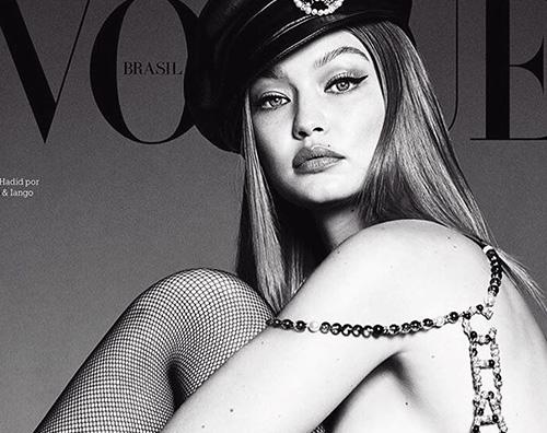 Gigi Hadid cover Gigi Hadid in topless su Vogue Brasil