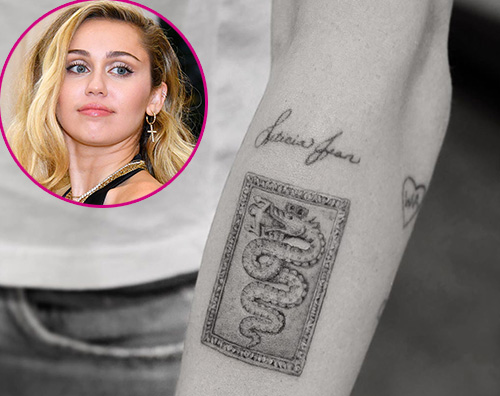miley cyrus Miley Cyrus ha un nuovo tattoo