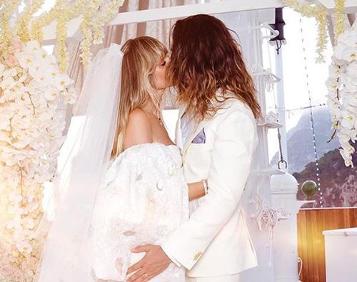 heidi klum Heidi Klum, la foto delle nozze