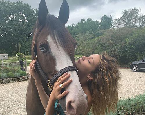 Bella Hadid 2 Bella Hadid, coccola un cavallo su Instagram