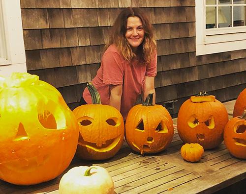 Drew Barrymore Drew Barrymore si prepara ad Halloween