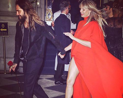 Heidi Klum Bill Kaulitz Heidi Klum e Bill Kaulitz, red carpet di coppia per Harpers Bazaar