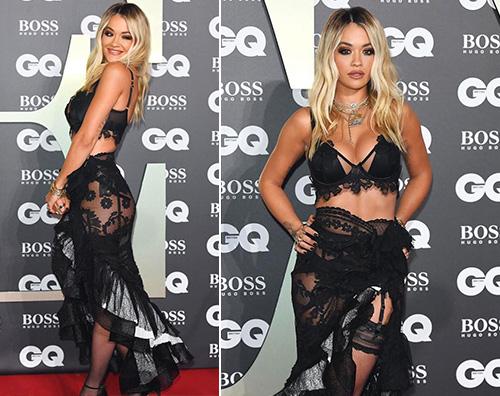 Rita Ora Rita Ora è hot ai GQ Man Of The Year Awards