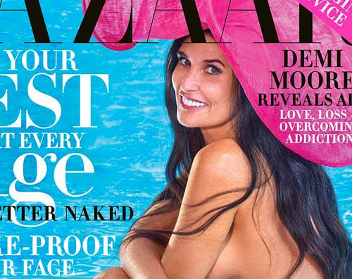 demi moore cover Demi Moore è hot su Harpers Bazaar