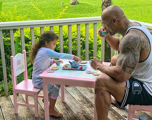 dwayne the rock johnson Dwayne Johnson, colazione con Jasmine