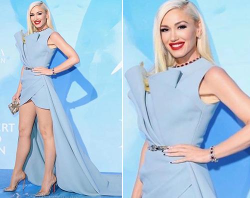 gwen stefani Gwen Stefani in azzurro a Montecarlo