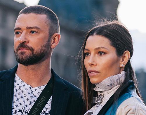 Jessica Biel e Justin Timberlake Jessica Biel e Justin Timberlake a Parigi per Vuitton