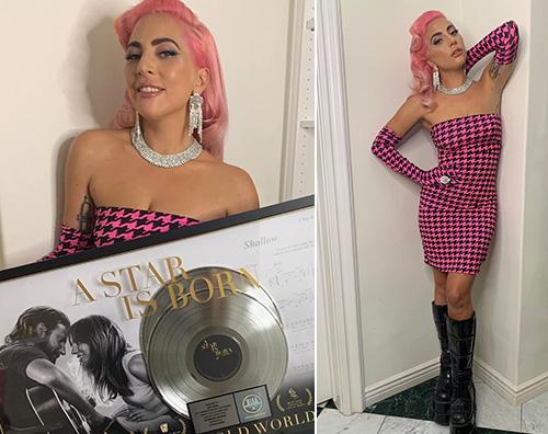 Lady Gaga Lady Gaga sfoggia i suoi capelli rosa su Instagram