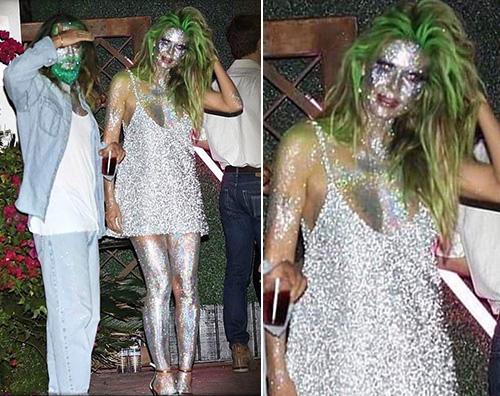 heidi klum Heidi Klum e Tom Kaulitz glitterati per il party di Halloween di Paris Hilton
