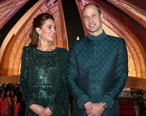 Kate Middleton raggiante in Pakistan