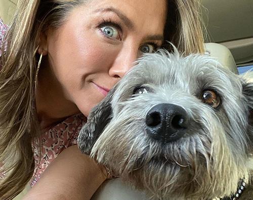 Jennifer Aniston 2 Jennifer Aniston porta il cane a lavoro