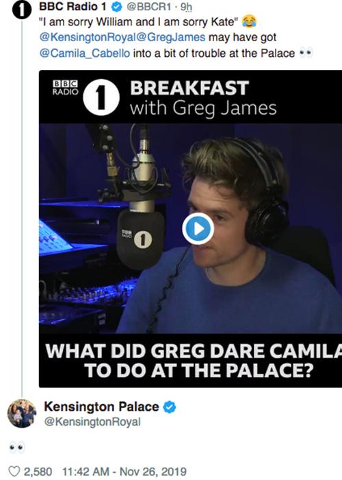 camila cabello kensington palace Camila Cabello ha rubato qualcosa a Kensington Palace