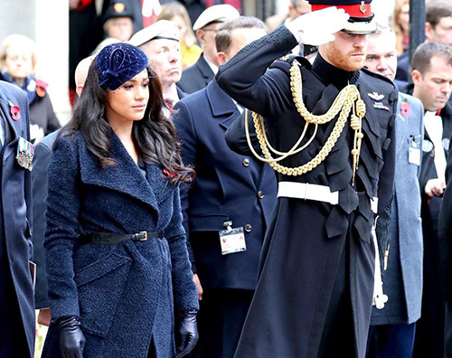 harry meghan Meghan e Harry celebrano il Remembrance Day