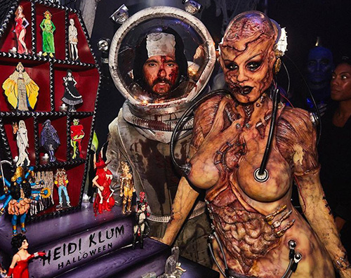 heidi klum Heidi Klum è un alieno per Halloween