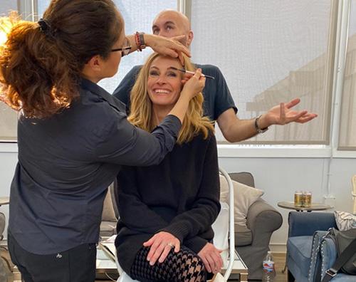 julia roberts Julia Roberts nel backstage di un nuovo spot
