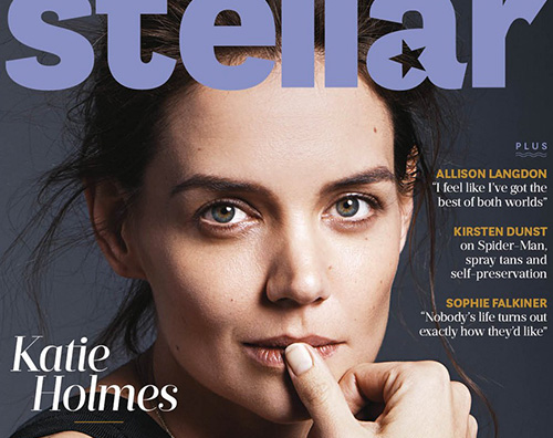 katie holmes Katie Holmes si racconta su Stellar Magazine