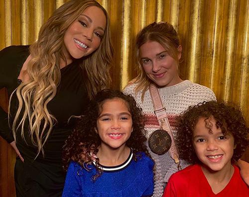 mariah carey milly bobby brown Mariah Carey porta i gemelli a conoscere Millie Bobby Brown