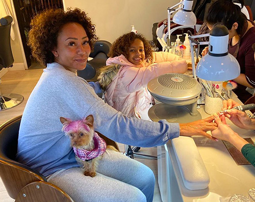 melanie b Mel B, manicure con la piccola Madison