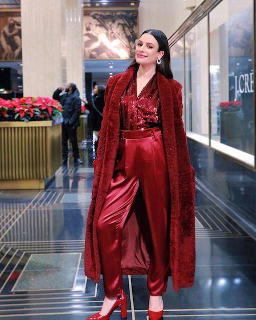 74792849 2653594781390405 4514839988711208140 n Lea Michele in rosso al Rockefeller Center