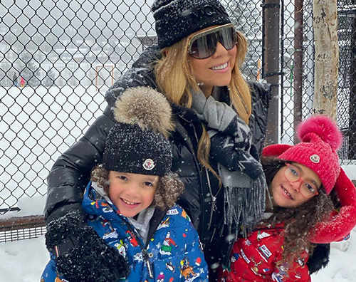 Mariah Carey cover Mariah Carey, relax in montagna con la famiglia
