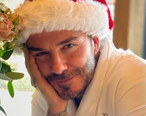 david beckham Buon Natale