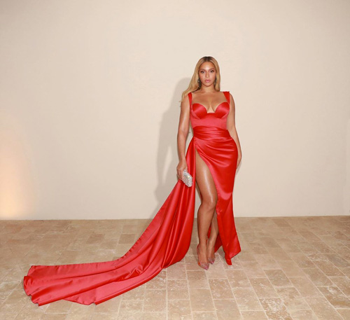 Beyonce 2 Beyonce in rosso al party pre Grammy