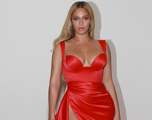 beyonce 3 Beyonce in rosso al party pre Grammy