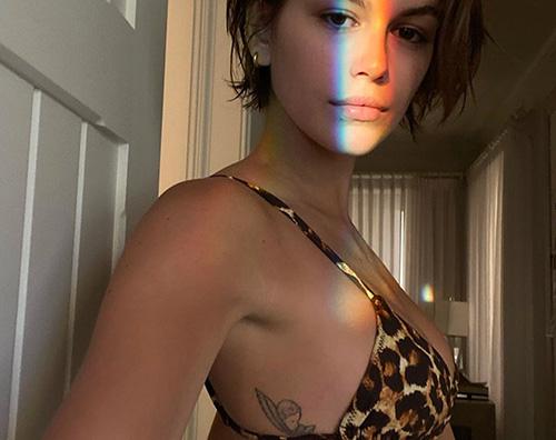 kaia  Kaia Gerber, selfie in bikini su Instagram